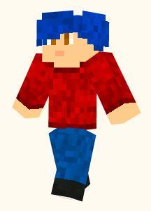 File:Minecraft blue hair skin.jpg
