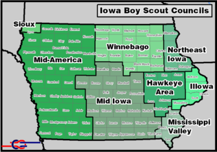 Iowa bsa map