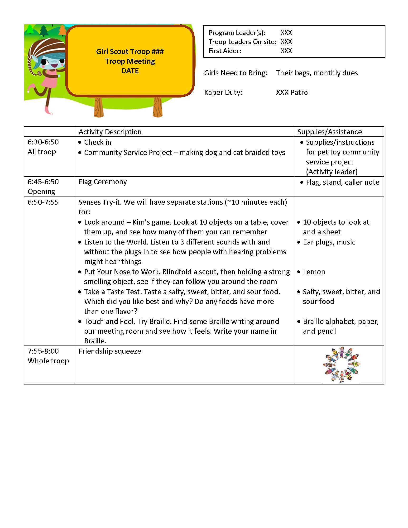 Image Brownie Meeting Plan templatejpg – Meeting Plan Template