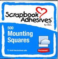 3L Scrapbook Adhesives - Mounting Squares (White - 500 per box)