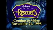 The Rescuers VHS Promo 1998