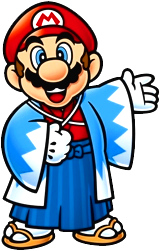 File:Mario wears Japanese Attire.png