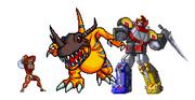 Lord Zedd VS Greymon and Megazord