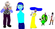 Wallace, emily, victor q , totty and zeena as Raily's emotions