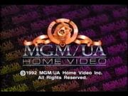 MGM UA Home Video 1992 Rainbow Copyright Scroll
