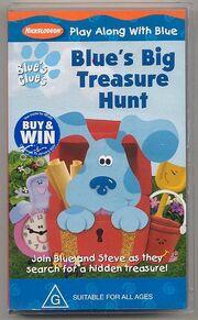 Blue's big treasure hunt australian vhs