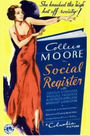 1934 - Social Register Movie Poster