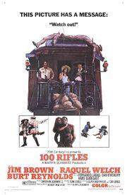 1969 - 100 Rifles Movie Poster -2