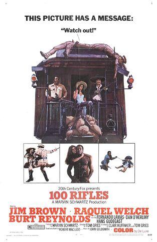 File:1969 - 100 Rifles Movie Poster -2.jpg