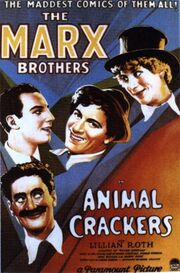 1930 - Animal Crackers Movie Poster