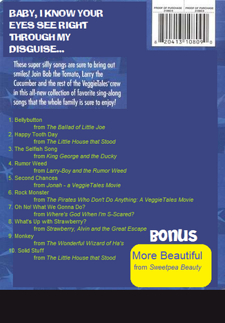 VeggieTales Sing-Alongs Bellybutton back cover