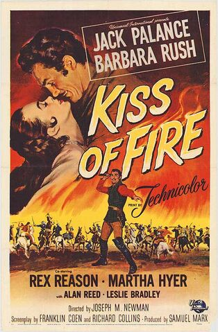 File:1955 - Kiss of Fire Movie Poster.jpeg