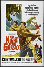 1966 - The Night of the Grizzly Movie Poster