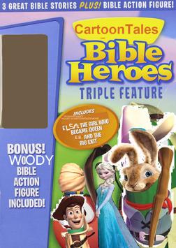 Cartoon bible heroes triple