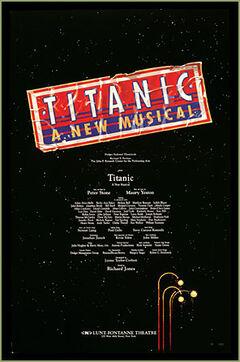 Titanic musical Broadway poster