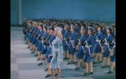 Pin up girl (1944) betty grable and 2 platoons of actual WACS