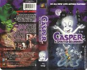 Casper A Spirited Beginning VHS Front Spine And Back Covers