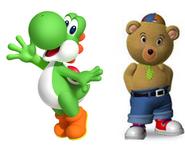 Yoshi and Master tubby bear