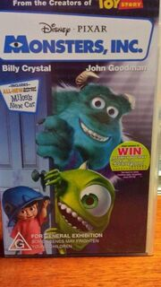 Monsters Inc 2002 Australian VHS