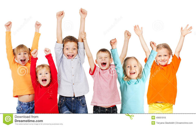 File:Happy-group-children-their-hands-up-happiness-isolated-white-49661916.jpg