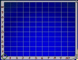 A grid that helps Huckle and Lowly find stars in a constellation