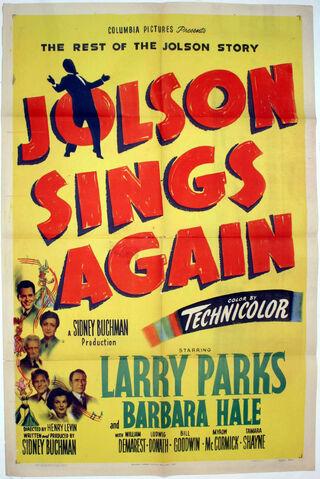 File:1949 - Jolson Sings Again Movie Poster.jpg