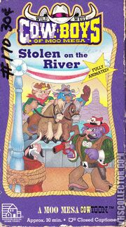 Wild West Cowboys Of Moo Mesa Stolen On The River 1992 VHS Cover