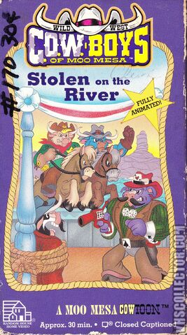 File:Wild West Cowboys Of Moo Mesa Stolen On The River 1992 VHS Cover.jpg