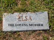 Elsa Gravestone