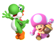 Yoshi and Toadette 2