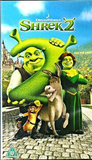 Shrek 2 UK VHS