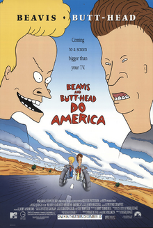 Beavis And Butthead Do America (1996) Poster