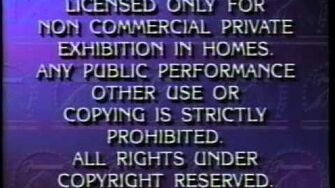 Opening To White Christmas 1990 VHS (1997 Reprint)