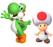 Yoshi and Toad