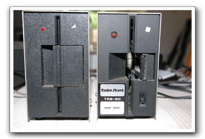 26-1160D U.K. Model 1 Disk Drive 26-1160D on left(front)