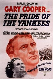 1942 - The Pride of the Yankees Movie Poster