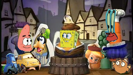 File:Spongebob and villagers.png