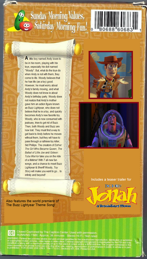 Toy Story VHS back cover