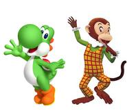 Yoshi and Martha monkey