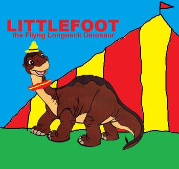 Littlefoot the flying longneck dinosaur