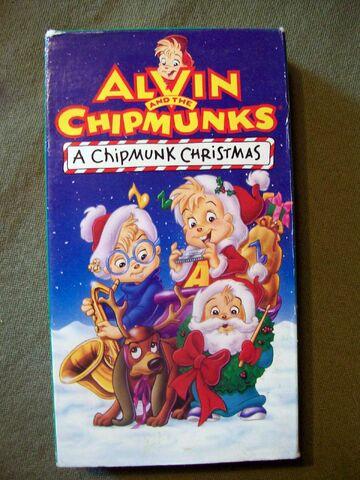 File:A Chipmunk Christmas VHS.jpg