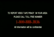 Report Video Tape Piracy Hotline Screen in English (1997-2007)