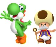 Yoshi and Toadsworth