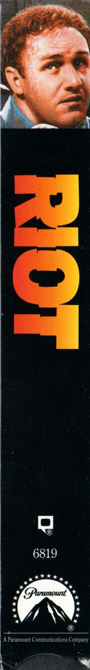 Riot 1993 VHS (Spine Cover)