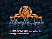 MGM UA Home Video Copyright Screen (1990 Variant)