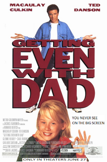 Getting Even With Dad 1997 Re-Release Poster