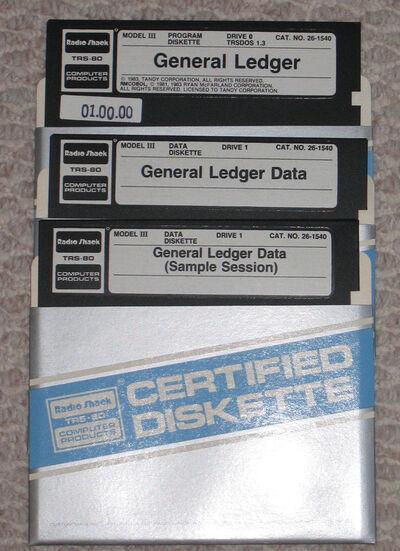26-1540 General Ledger-media diskettes