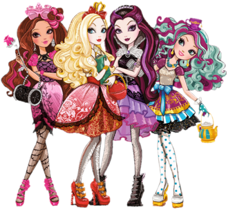 Ever after high group cutout by shaibrooklyn-d67alz0