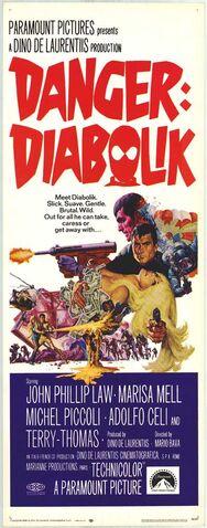 File:1968 - Danger - Diabolik Movie Poster.jpg
