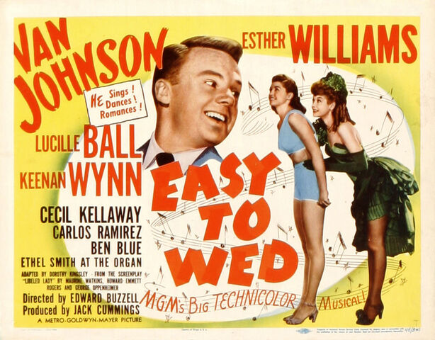 File:1946 - Easy to Wed Movie Poster.jpg